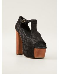 Jeffrey Campbell 'Foxy Lace' Sandal - Lyst