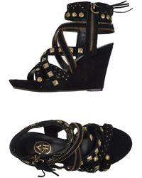 Ash Black Sandals - Lyst