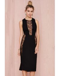 Nasty Gal Laney Lace Cutout Dress black - Lyst