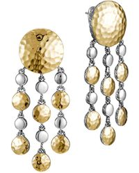 John Hardy Palu Goldsilver Chandelier Earrings - Lyst