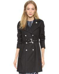 Versus   Overcoat - Black   Lyst