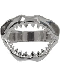 Venessa Arizaga - Mini Silverplated Sharky Ring - Lyst
