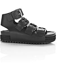 Alexander Wang | Idina Buckled Leather Sandals | Lyst