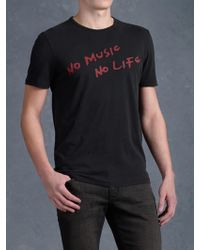 John Varvatos No Music No Life Graphic Tee - Lyst