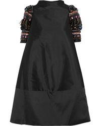 Biyan Alana Embellished Shantung Dress - Lyst