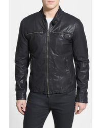 Vince Camuto Washed Leather Moto Jacket - Lyst