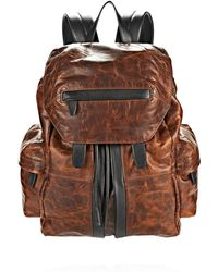 Alexander Wang - Marti Backpack In Distressed Sandstorm With Matte Black - Lyst