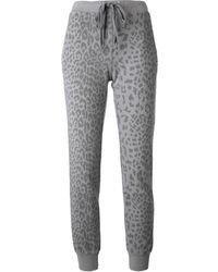 Current/Elliott Leopard Print Track Pants - Lyst