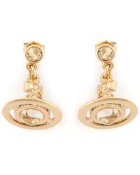 Vivienne Westwood Orb Earrings - Lyst
