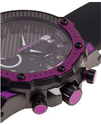 Ritmo Mundo - Quantum Iii Collection Stainless Steel And Purple Aluminum Watch, 50mm - Lyst