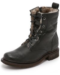 Frye - Valerie Lace Up Booties - Lyst