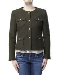 Helene Berman Cropped Military Jacket - Lyst