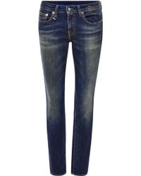 R13 Kate Low-Rise Skinny Jeans - Lyst