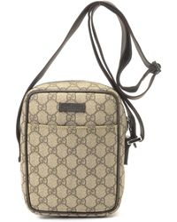 Gucci Gg Coated Canvas Shoulder Bag - Lyst