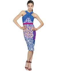 Peter Pilotto Printed Stretch Viscose Dress - Lyst