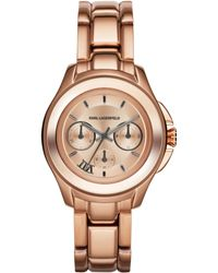 Karl Lagerfeld Unisex Chronograph Karl 7 Klassic Rose Goldtone Stainless Steel Bracelet Watch 39mm - Lyst
