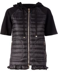 Moncler Padded Front Sweatshirt - Lyst