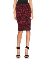 Alexander McQueen Floral Printed Mid Length Skirt - Lyst