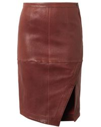 Elizabeth And James Mercy Leather Skirt - Lyst