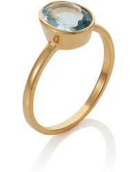 Caroline Creba - 18ct Gold Plated Sterling Silver 2.80ct Blue Topa - Lyst