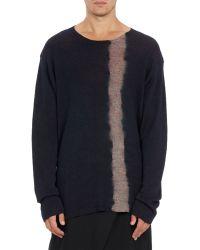 Yohji Yamamoto Tie-Dye Stripe Sweater - Lyst
