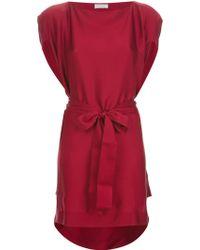 Vionnet Draped Tie Fastening Dress - Lyst