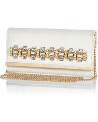 River Island White Jewelled Cross Body Purse - Lyst