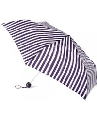Lulu Guinness Painterly Stripe Superslim Umbrella blue - Lyst