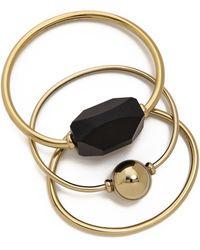 By Malene Birger Orchestra Bracelet Set - Gold Multi - Lyst