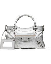 Balenciaga Silver Classic First - Lyst