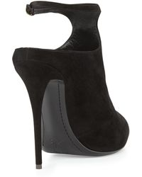 Giuseppe Zanotti Suede Ankle-Strap Bootie - Lyst