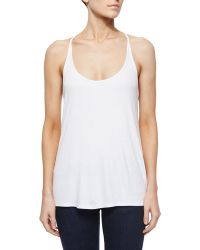 Haute Hippie Scoop-Neck Sleeveless Camisole white - Lyst