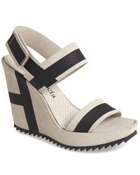Pedro Garcia Women'S 'Nautical' Wedge Sandal - Lyst