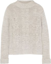 Enza Costa Cableknit Wool and Cashmereblend Sweater - Lyst