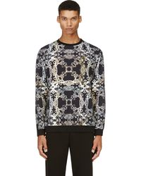 Versus  Black and Pastel Baroque Sweatshirt - Lyst