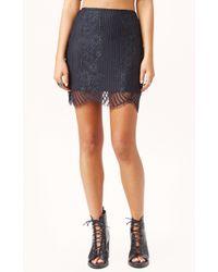 For Love And Lemons Lolo Mini Skirt - Lyst