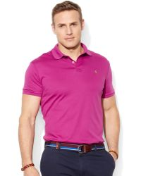 Ralph Lauren Polo Big and Tall Pima Softtouch Interlock Polo - Lyst