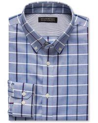 Banana Republic Tailored Slim-Fit Non-Iron Blue Large Check Shirt - Lyst