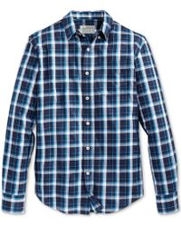 American Rag Flora Varsity Plaid Shirt - Lyst
