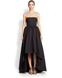 Notte By Marchesa Faille Hi-lo Gown - Lyst