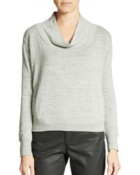 Eileen Fisher Relaxed Cowl Neck Top - Lyst