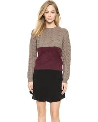 Carven Fancy Knit Pullover - Pinot - Lyst