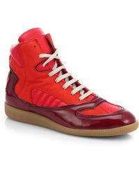 Maison Margiela Cadillac Leather High-Top Sneakers - Lyst