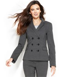 Calvin Klein Double Breast Plaid Jacket - Lyst