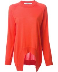 Givenchy Arched Hem Sweatshirt - Lyst