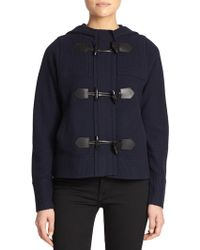 Burberry Brit Wool Toggle Sweater - Lyst
