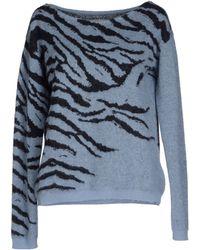 Laneus Sweater blue - Lyst