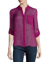 Diane von Furstenberg Lorelei Two Print Silk Blouse - Lyst