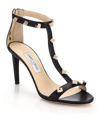 Jimmy Choo Lamba Studded Leather Sandals - Lyst
