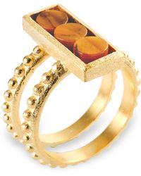 Ona Chan - Rectangle 14K Gold Ring - Lyst